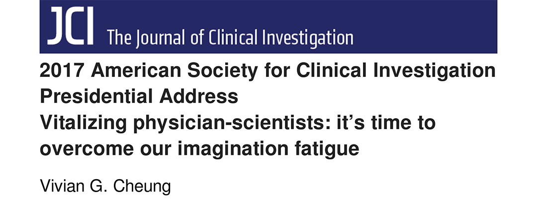 Vitalizing physician-scientists: it's time to overcome our imagination fatigue