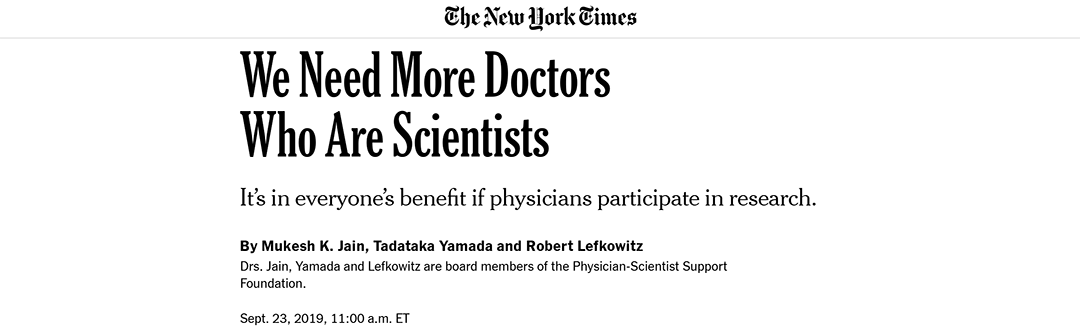 We Need More Doctors Who Are Scientists