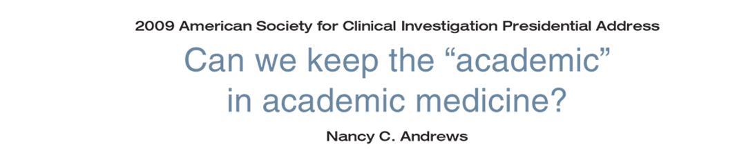 """Can we keep the """"academic"""" in academic medicine?"""