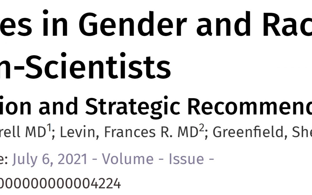 Disparities in Gender and Race Among Physician-Scientists